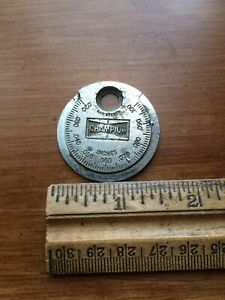 Vintage Champion Spark Plug Taper Gap Gauge Ct 481