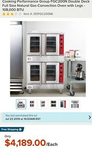 1 commercial Gas Convection Oven With Legs