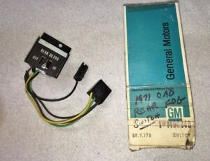Cadillac 1971 1972 1973 Rear Defrost Switch Nos 1496848