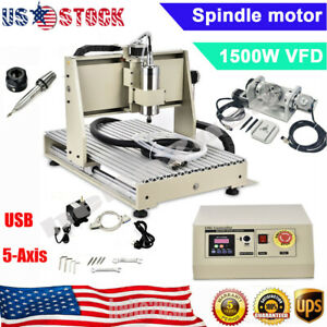 1 5kw Usb Port 6040 5 axis Cnc Router Engraving Machine Metal Milling Machine