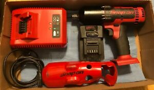 Free Shipping Snap on 18v Ct8850 1 2 Cordless Impact W Charger And 1 Battery
