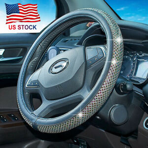 Bling Shiny Colorful Crystal Car Truck Steering Wheel Cover Skidproof Protector