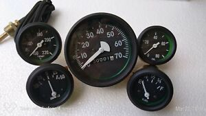 Mechanical Gauges Kit Water Temp Oil Press Fuel Ampere Gauge Speedometer