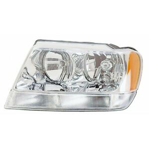 Fits 2004 Jeep Grand Cherokee Head Light Assembly Driver Side Ch2502120