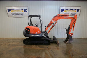 Kubota Kx121 3 Mini Compact Track Excavator With Float Angle Blade