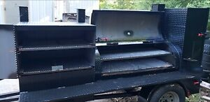 Pro Pitmaster Bbq Smoker 48 Grill Pit Cooker Catering Business Mobile Food Truck