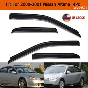 For 2000 2001 Nissan Altima 4pc Dark Smoke Window Visor Rain Guards Vent Shade