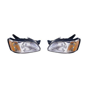 Fits 2000 2004 Subaru Legacy Head Light Pair