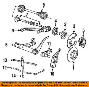 Porsche Oem 87 91 944 Brake Rear Shock Absorber 95133303204