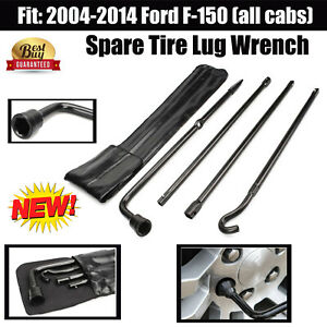 Oem Spare Tire Repair Tool 2004 2014 Ford F 150 All Cabs Lug Wrench Steel Kit
