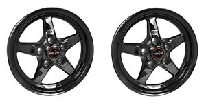 Pair Racestar Drag Star Wheel Dark Star 15x3 75 5x4 5 1 25bs 92 537140dsd