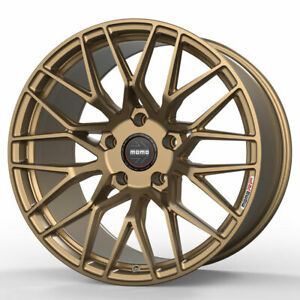 19 Momo Rf 20 Gold 19x8 5 19x9 5 Concave Forged Wheels Rims Fits Tesla Model S