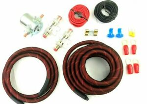 4 Awg Red Snakeskin Heavy Duty Auxiliary Anl Fuse Battery Isolator Copper Wire