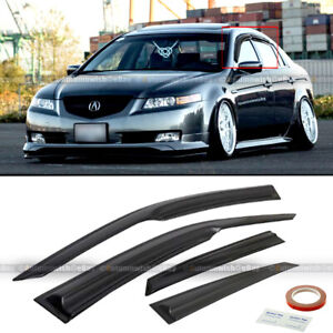 For 04 08 Acura Tl Jdm Mugen Style 3d Wavy Black Tinted Window Visor Vent