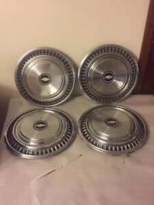 Vintage Oem Set Of 4 1970 S Chevrolet Caprice Impala 15 Hubcaps Wheel Covers