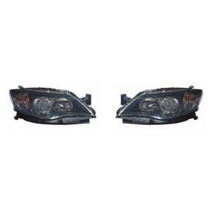 Fits 2008 2011 Subaru Impreza Head Light Pair capa