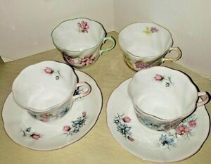 Queen S Fine Bone China 4 Cups 2 Saucers Made In England