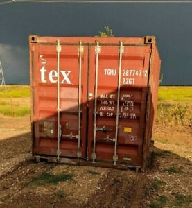 Used 20 Dry Van Steel Storage Container Shipping Cargo Conex Seabox Atlanta