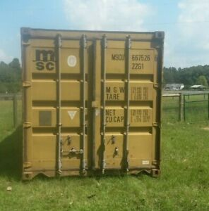 Used 40 Dry Van Steel Storage Container Shipping Cargo Conex Seabox Atlanta