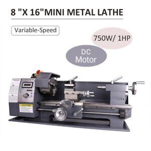 8 x16 Automatic Mini Metal Lathe Variable speed Dc Motor 750w Woodworking Tool