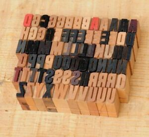A z Alphabet 0 55 Letterpress Wooden Printing Blocks Wood Type Vintage Print