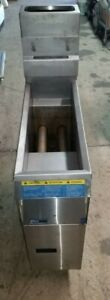 Pitco Commercial Lp Gas Deep Fryer Stainless Space Saver Model 7ss Propane