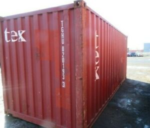 Used 20 Dry Van Steel Storage Container Shipping Cargo Conex Seabox Charleston