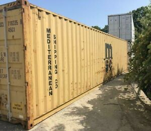 Used 40 Dry Van Steel Storage Container Shipping Cargo Conex Seabox Charleston