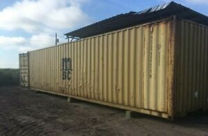 Used 40 High Cube Steel Storage Container Shipping Cargo Conex Seaboxcharleston