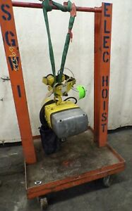 Yale Electric Chain Hoist 1 2 Ton Kel 1 2 10th15s1 1 Hp 3 Ph With Trolley