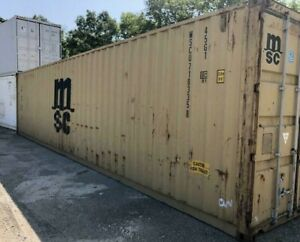 Used 20 Dry Van Steel Storage Container Shipping Cargo Conex Seabox Chicago