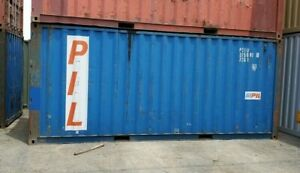 Used 20 Dry Van Steel Storage Container Shipping Cargo Conex Seabox Cincinnati