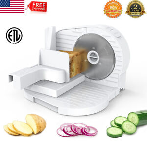 6 7 Blade 150w Commercial Meat Slicer Electric Deli Food Veggie Cutter Kitchen