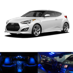 7x Blue Led Interior Light Package For 2012 2014 2015 2016 2017 Hyundai Veloster