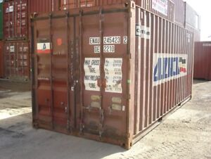Used 40 Dry Van Steel Storage Container Shipping Cargo Conex Seabox Cleveland