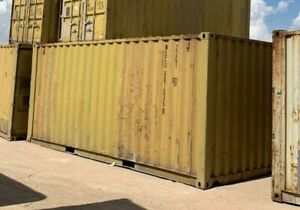 Used 20 Dry Van Steel Storage Container Shipping Cargo Conex Seabox Columbus