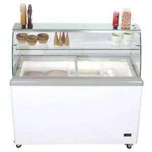 Chef s Exclusive 52 Commercial Ice Cream Dipping Cabinet Display Freezer 8 Tub