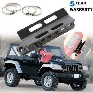 Car Fire Extinguisher Mount Bracket W 4 Securing Clip Rings For Jeep Wrangler