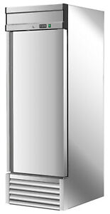 New Commercial 1 Single Door Reach In Refrigerator Cooler 23 Cu Ft 27 Wide