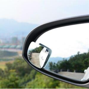 2pcs Wide Angle Convex Car Blind Spot Round Stick On Side View Rearview Mirrors