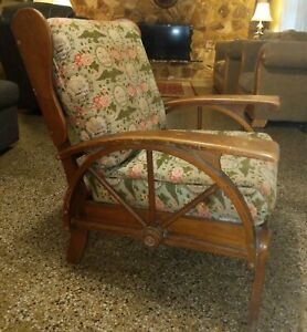 Vintage Western Wagon Wheel Chair 1940 S 1960 S