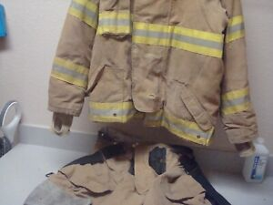 Lion Apparel Janesville Firefighter Suit Outer And Liner Used Condition