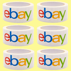 12 Rolls Ebay Branded Bopp Packing Shipping Tape Lot 75 Yards X 2 New Sealed