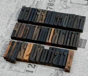A z Alphabet 3 23 Letterpress Wooden Printing Blocks Wood Type Art Nouveau Deco
