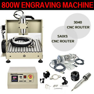 800w Cnc Router 3040 5axis Engraving Carving Machine Cnc Metal Milling Machine