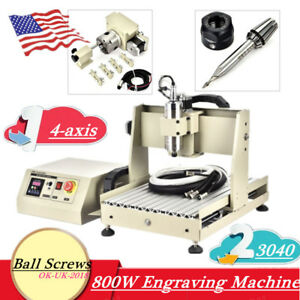 800w Ball Screw 3040 Cnc Router 4axis Metal Engraver Engraving Milling Machine