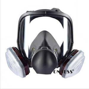 Full Face Gas Mask Paint Spray Chemical Protection Activated Carbon Respirator
