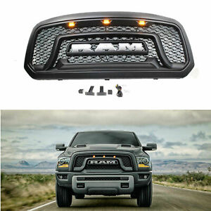 13 18 Dodge Ram 1500 Pickup Grille Abs Honeycomb Bumper Grill Mesh Rebel Style