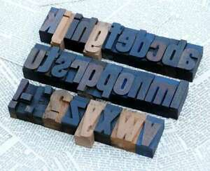 A z Alphabet 1 77 Letterpress Wooden Printing Blocks Wood Type Vintage Printer