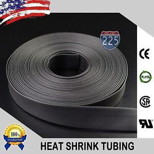 25 Ft Feet Black 1 1 2 38mm Polyolefin 2 1 Heat Shrink Tubing Tube Cable Us Ul